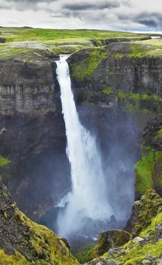 Háifoss waterfall pl