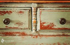 distressing furniture with paint | How-To: painting furniture 5 ~ paint combinations | Simply Rooms (by ...