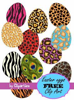 Easter eggs animal print