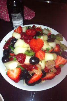 Heart fruit salad!