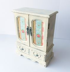 Girls Jewelry Box Ladies Upcycled Patchwork Shabby Chic Cottage
