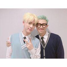 우리 낮누한테 그만 멋쉥겼다했으면 ❤ liked on Polyvore featuring bts, kpop, namjin and people