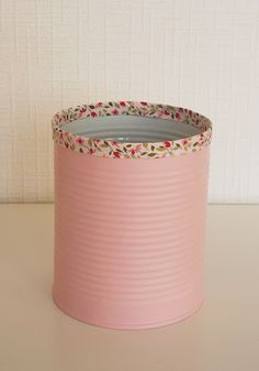 Cream cans to match the jars. Then the pink ribbon from our bridal bouquets on the top, and put twine somewhere to tie it together.