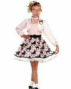 Take a look at this Pink Pretty Poodle Dress-Up Set - Girls by Sugar Sugar on today! Girls 50s Costumes, 50s Halloween Costumes, Retro Costume, Cute Costumes, Kids 50s Costume, Rocker Costume, Vampire Costumes, Party Costumes, Hippie Costume