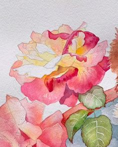 Flower Painting Flower Watercolor - draw it Painting easy Painting ideas Painting water Painting tutorials Painting landscape Painting abstract Watercolor Painting Easy Flower Painting, Acrylic Painting Flowers, Watercolor Painting Techniques, Watercolour Tutorials, Watercolour Painting, Watercolor Flowers, Painting & Drawing, Chinese Painting Flowers, Orchids Painting