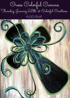 Cross Colorful Canvas $35.00 Thursday, January 28th @ Colorful Creations 6:00 PM Price includes paint, canvas, brushes, easel, and step-by-step instruction. Wine tasting starts at 5:30. Wine will be available for purchase. Space is limited. Please reserve your spot online. Visit our website.