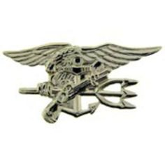 """U.S. Navy SEAL Trident Pin Silver Plated 1 7/16"""" by FindingKing. $9.50. This is a new U.S. Navy SEAL Trident Pin Silver Plated 1 7/16"""""""