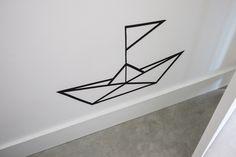 "DIY masking tape ""paper"" boat"