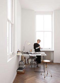 designer anna valentine in her home in london. / sfgirlbybay