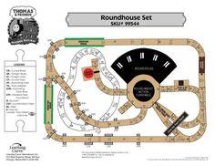 Thomas Train Roundhouse Train Set Track Layout
