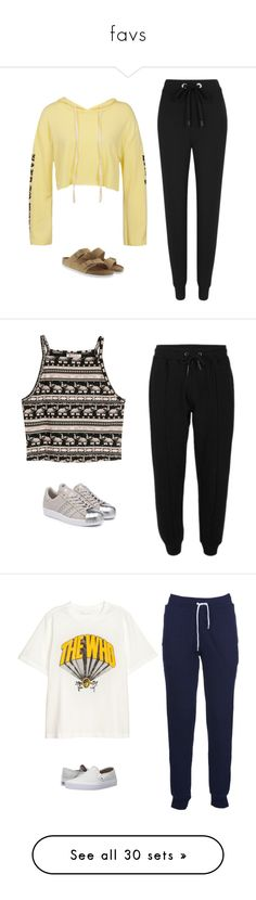 """favs"" by danieledepaula on Polyvore featuring Sans Souci, No Ka'Oi, Birkenstock, H&M, adidas Originals, Maison Kitsuné, Vans, Hollister Co., adidas and RVCA"