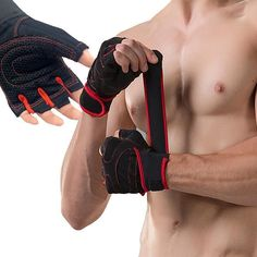 With Belt Body Building Fitness Gym Gloves Crossfit Weight Lifting Gloves For Men Musculation Women Anti-slip Barbell Dumbbell Crossfit Gloves, Gym Gloves, Workout Gloves, Fitness Gloves, Bodybuilding, Fitness Gym, Fitness Models, Biceps, Weight Lifting