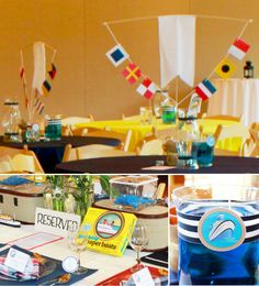 Nautical Tablesetting, Centerpieces & Details