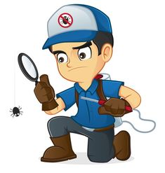 Exterminator Searching Bugs Kill Them เวกเตอร์สต็อก (ปลอดค่าลิขสิทธิ์) 358649354 Pest Control Supplies, Pest Control Services, Roach Killer, Carry Back, Roaches, Humming Bird Feeders, Bed Bugs, Insect Repellent, Good Things