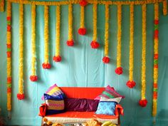 Diwali Decorations At Home, Wedding Hall Decorations, Engagement Decorations, Girl Baby Shower Decorations, Backdrop Decorations, Flower Decorations, Backdrops, Naming Ceremony Decoration, Indian Baby Showers