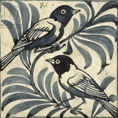 Bluebirds (w/c on paper)