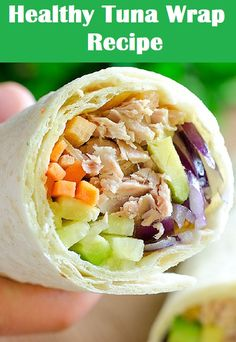 Healthy Tuna Wrap Recipe By Lidia from Yummiest Food. Only 10 minutes you can make so easy, healthy and delicious recipe. Low in calories and so tasty. This yummy recipe will satisfy your appetite! Tuna Recipes, Wrap Recipes, Healthy Crockpot Recipes, Quick Recipes, Popular Recipes, New Recipes, Vegetarian Recipes, Cooking Recipes, Delicious Recipes