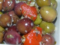 Antipasto, Healthy Recipes, Healthy Food, Fruit, Kai, Appetizers, Cooking Recipes, Meals, Marinated Olives