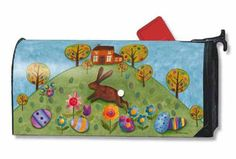 Magnet Works MailWraps Mailbox Cover - Busy Bunny