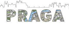Silueta de skyline y Mapa de Praga
