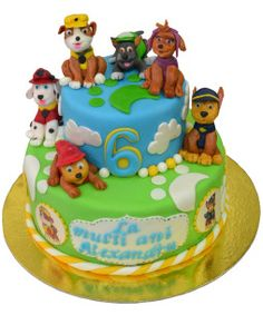 Tort-Paw-Patrol Paw Patrol, Birthday Cake, Desserts, Food, Tailgate Desserts, Deserts, Birthday Cakes, Essen, Postres
