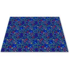 Kid Carpet Animal Doodles Blue Area Rug Rug Size: 9' x 12'