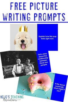 Here you get 15 FREE picture writing prompts to use with 2nd, 3rd, 4th, 5th, 6th, 7th, or 8th grade elementary and middle school kids. They are great for reluctant writers, literacy centers, morning or seat work, and more. Click to get your freebie now! #ReluctantWriters #Writing #WritingCenters #Elementary #MiddleSchool #PictureWritingPrompts #WritingPrompts #HoJoTeaches Middle School Teachers, Elementary Teacher, School Kids, Upper Elementary, Teaching Writing, Writing Activities, Writing Ideas, Writing Resources, Teaching Ideas