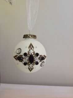 Christmas ornament Christmas tree ornament white by Sistafriends