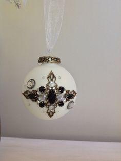 Christmas ornament Christmas tree ornament white by Sistafriends