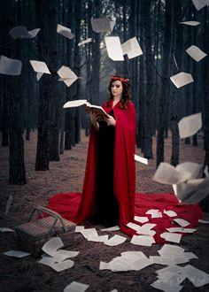 red riding hood done by a frame of mind media pages books fairytales photoshoots photography woods Levitation Photography, Fantasy Photography, Photography Ideas, Photoshoot Themes, Photoshoot Inspiration, Red Ridding Hood, Conceptual Fashion, Some Beautiful Pictures, Dark Beauty