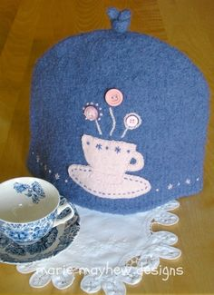 PATTERN Wool 6-Cup Tea Cozy Knitting & Felting by woollysomething, $6.00