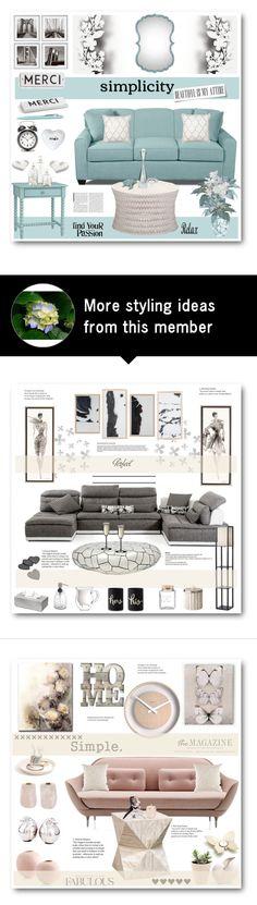 """Simplicity"" by stranjakivana on Polyvore featuring interior, interiors, interior design, дом, home decor, interior decorating, Redford House, Élitis, Rosanna и blomus"