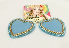 Authentic Tarina Tarantino Barbie Swarovski Crystal Heart Earrings, New w/Tag - http://elegant.designerjewelrygalleria.com/tarina-tarantino/authentic-tarina-tarantino-barbie-swarovski-crystal-heart-earrings-new-wtag/