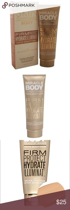 Miracle Skin Transformer Body-- by Sarah McNamara Tinted Beauty Balm SPF 20--Color is Glow. Great for Fair/Medium Skin Tones. Sealed Nordstrom Makeup Luminizer