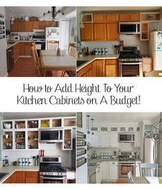 How to easily add height to your kitchen cabinets on the cheap!