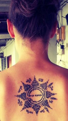 Cambodian character style incorporated into mehndi/lotus - thinking of getting this!