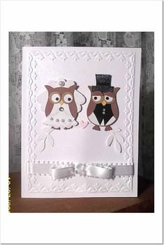 Owl Wedding Card by BLN - Cards and Paper Crafts at Splitcoaststampers