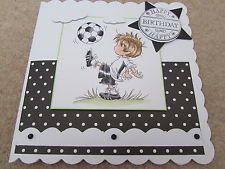 Men's Cards, Boy Cards, Kids Cards, Handmade Birthday Cards, Handmade Cards, Craft Projects, Projects To Try, Male Birthday, Football Birthday