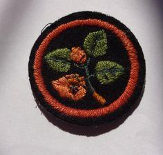 Ranger Beech tree felt patrol emblem. RANGER FELT PATROL EMBLEM. UK GIRL GUIDES. | eBay! Guide Badges, Beech Tree, Girl Guides, Scouts, Ranger, Brownies, Felt, Embroidery, Girls