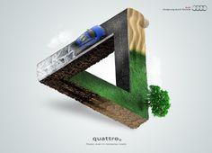 #escher inspired Ad  |  Audi: Triangle