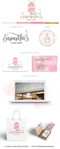 PREMIUM Branding Package - Gold Watercolor Cake Logo - Floral Bakery Logo Cakery - Business Card Design - Cupcake Logo Design Food Blog Logo This premade Branding Package Logo Design Kit is a perfect solution to professionally brand your business for an affordable price. A full package is included for the price listed! I dont charge additional fees for any additional files you need, like it is a practice with other designers…