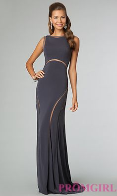 The perfect Prom dress - FOUND! (P.S. A gorgeous open back gown with illusion slits are so flattering!)