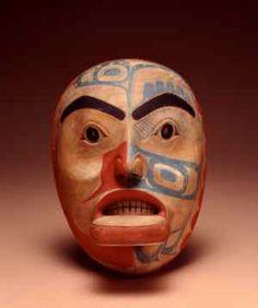 Human Face Mask, c. 1820  Artist: Kaigani Haida  #americanindian #nativeamerican #art