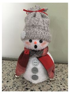 Sock Snowman Craft, Sock Crafts, Snowman Crafts, Christmas Projects, Holiday Crafts, Snowman Wreath, Christmas Craft Fair, Crochet Christmas, Christmas Snowman