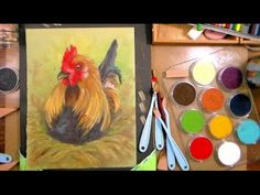 Painting a Sassy Chicken in PanPastel (but you can use acrylics or oils or regular pastels!) - YouTube