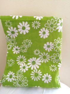 vtg pequot twin flat bed sheet green flower daisy mod retro 60u0027s 70u0027s hippie ebay
