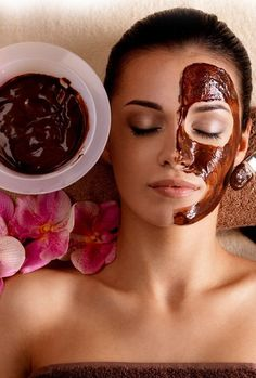 Chocolate Face Masks. i dont have a problem smearing chocolate on my face.