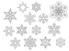 Stars and snowflakes - Monica's Creative Room about 50 different stars free