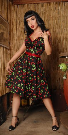 black cherry dress! I have this dress & had the Incredible Opportunity to be Photographed with a 50's Style Pinup shoot in studio & at the beach with Face On By Tamara!