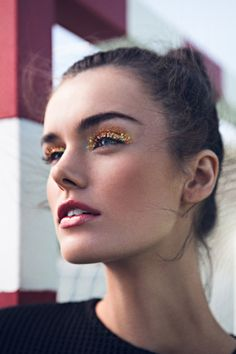 Brightness eyes #maquillaje #makeup #glitter #purpurina